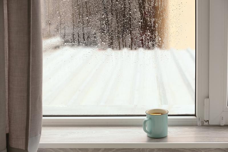 窓から見る雨