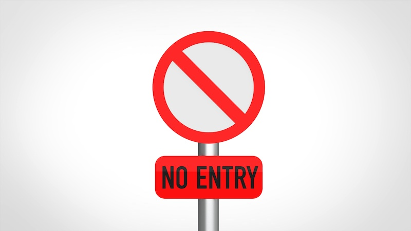 進入禁止の看板