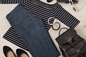 黒い衣類と小物