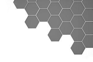 グレーのハニカム構造