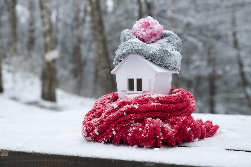 暖められた家
