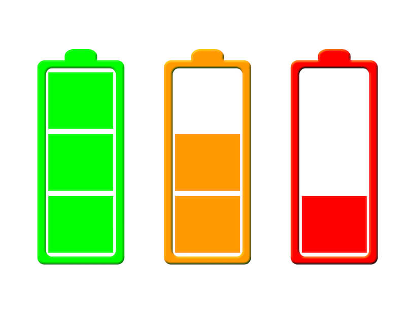電池の消耗