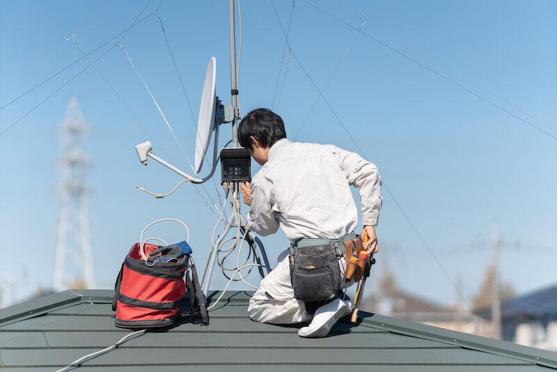 アンテナを設置する専門業者