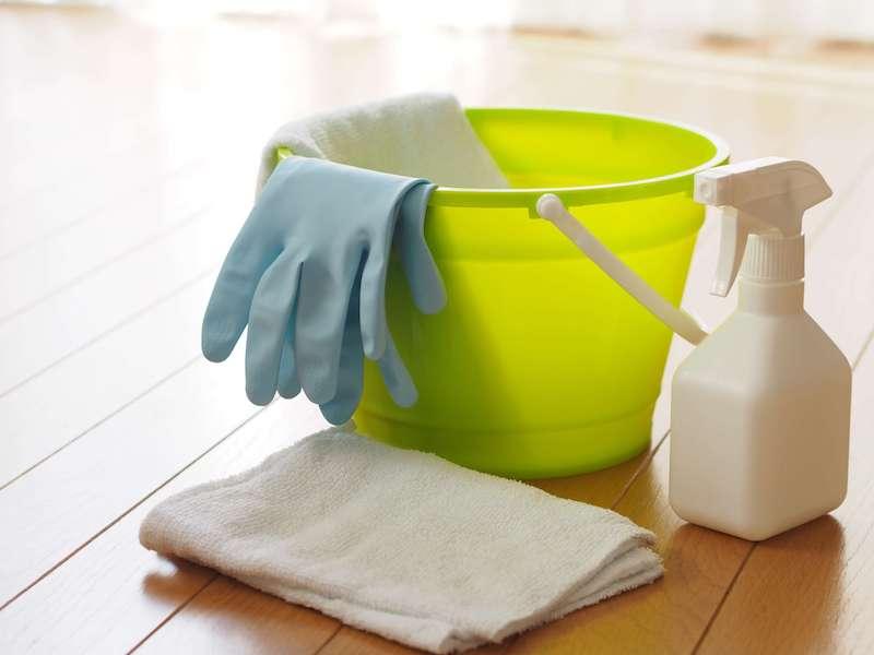 ネズミの巣やフンを掃除する用具