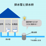 排水管と排水枡