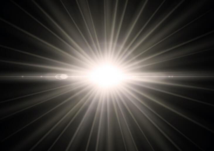 イタチを追い出す強い光